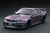 Nissan Skyline R34  Nismo GT-R Z-tune Midnight Purple III IG0009 Ignition-Model 1/18